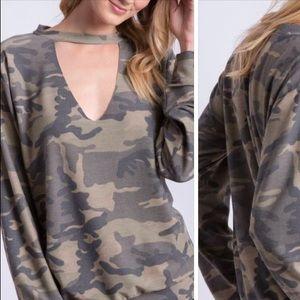 Women's  CAMO Sweatshirt by Peach Tree